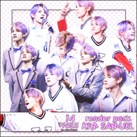 [PACK RENDER #91] 14 PNGS KIM SAMUEL by RinYHEnt