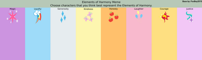 Elements of Harmony Meme Base by FoxBoy2015