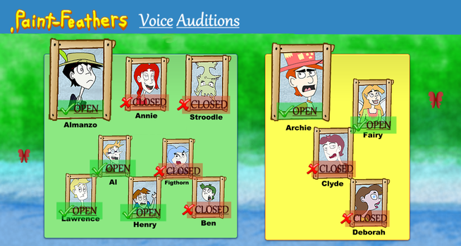 OPEN Voice Auditions! by PaintFeathers