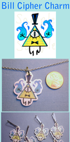 Bill Cipher Charm by VickyViolet
