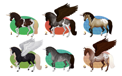 [OPEN 2/6] Auction: Horses by Piaffe set by Dezaaru