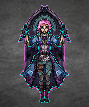 Stained Glass Maeve by TheStarBear