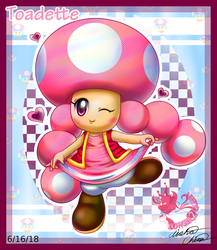 Graceful Toadette: Arttrade by Bowser2Queen