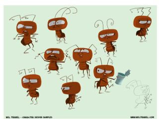 Cockroaches Character Designs by willterrell