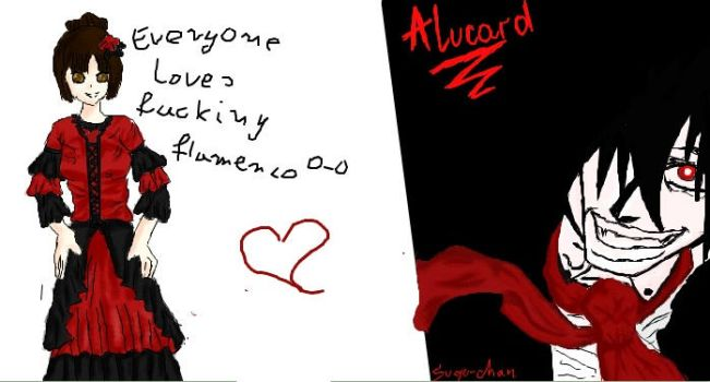 Alucard and flamenco o-o by okiku4