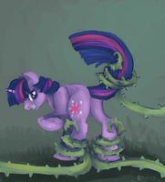 Twilight caught in vines by kwark85