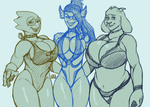 Undertale swimsuit time. by EICHH-EMMM