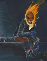 ghost rider hanging out by atrafeathers