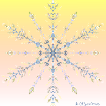 Snow Crystal Sunset by CatSpaceDesign