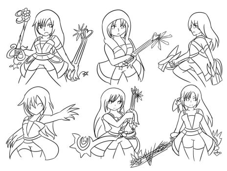 Kairi: Drive Forms ~Commission~ :Lineart: by Xero-J
