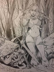 Red Sonja Commission by UltimateRubberFool