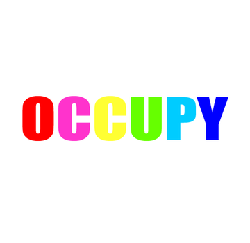 rainbow occupy pin button by poleev