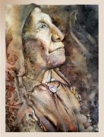 Chief Wolf Robe ~ Right Panel by richardcgreen