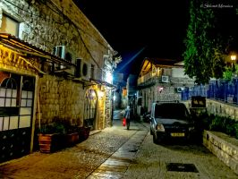Night in the old town by ShlomitMessica