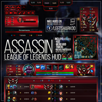ASSASSIN League of Legends HUD by LeftLucy