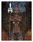Wakanda Forever Angelic Warrior Poster by 12CArt