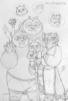 Family of po and tigress by AniDragmire