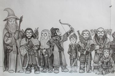The Hobbit - Fellowship (Detail, Part1) by FrerinHagsolb