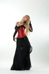 Tanit-Isis Red Corset I by tanit-isis-stock