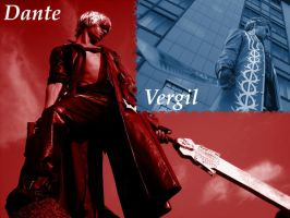 Dante and Vergil Cosplay DMC3 by DanteNeverCry
