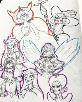 SVTFOE Sketchdump by SweetSketching