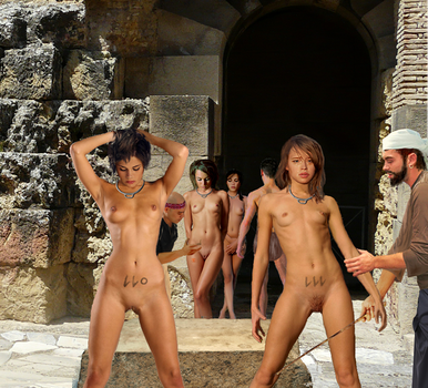 Slave inspection getting prepared for slave auction