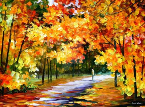 The Path Of Sun Beams by Leonid Afremov by Leonidafremov