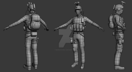 Low Poly Soldier by MikeDastardly