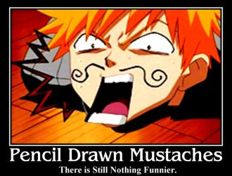 Pencil Drawn Mustache Poster by sweepeezee