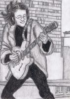 Rooftop Concert, John Lennon by gagambo