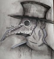 Plague doctor by HarukaArt