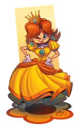 Princess Daisy by Curly-Artist