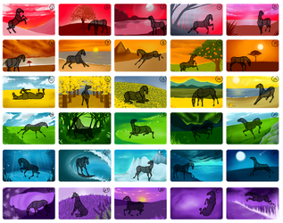 YHH Stat Grid: Rainbow! *CLOSED* by Winzer