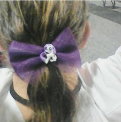 Badass Rarity Hair bow by Music-anime4Ever