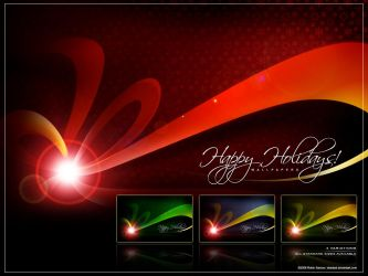 Happy Holidays Wallpapers by deadPxl