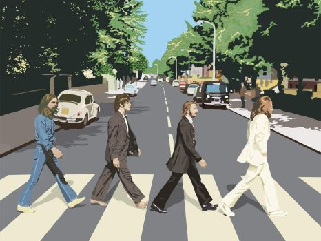 Abbey Road Wallpaper by themightyfro