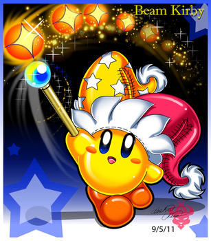 .::.Beam Kirby.::. by Bowser2Queen