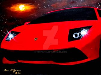 RED LAMBORGHINI MURCIELAGO by TEOFAITH
