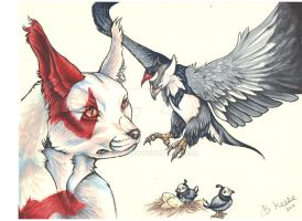 Zangoose and Staraptor