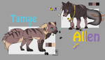 Tamae and Allen ref sheet  by LunaShadowsWolf