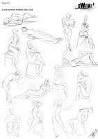 2 min Gesture Practices from life_2 by DracowormArt
