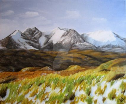 Ered Luin, or An Teallach with a visitor by Tindome-Art