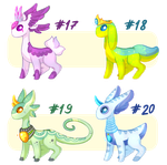 [Auction CLOSED] Adopt batch - Shiftgems #17-20 by KetLike