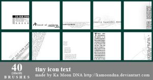 40 tiny icon text brushes by KaMoonDNA
