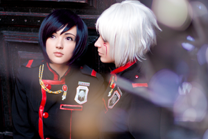 D.Gray-Man : Lenalee and Allen by Misaki-Sai