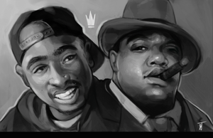 Tupac and Biggie by Nothingbutzack