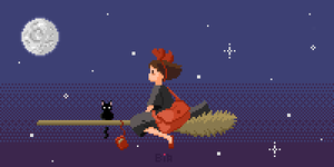 Kiki's Delivery Service by bfadraw