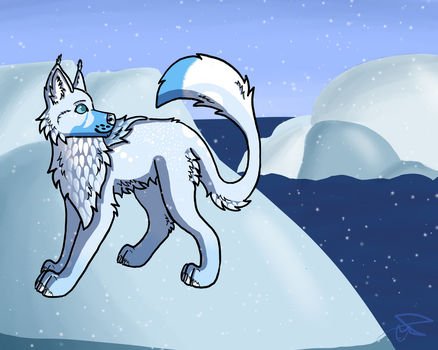 The Ice (Mistingwolf Commission) by joitimi