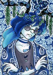 Sept Patreon Reward ACEO Genesis by nickyflamingo