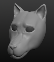 Sculptris - Wolf head by horse14t